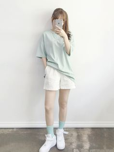Daily Fashion- Popular T-shirts for this summer 2016 . -Korean Daily Fashion- Popular T-shirts for this summer 2016 . Korean Summer Outfits, Korean Fashion Summer Street Styles, Korean Girl Fashion, Korean Fashion Trends, Summer Fashion Trends, Tomboy Fashion, Korea Fashion, Streetwear Fashion, Daily Fashion