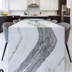 Best 35 Home Decor Ideas - Lovb Cambria Quartz Countertops, Cabinets And Countertops, Kitchen Counters, Granite Counters, Kitchen Reno, Kitchen Island, Waterfall Island, Waterfall Countertop, Home Design
