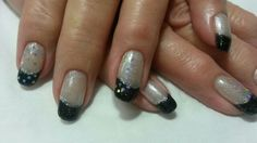 Silver and black Ninas Nails, Silver, Beauty, Black, Money, Black People