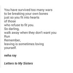 Letter to my sistahs - Neha Ray
