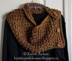 Knitting With Looms: Finished Chunky Cowl