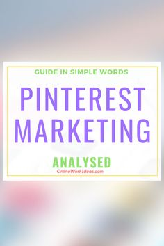 Pinterest marketing is about promoting products and services within its social network. Read on to learn what is Pinterest marketing and how to ......Read complete guide by clicking image! #pinterest #pinteresttips #pinterestmarketing #digitalmarketing #internetmarketing #socialmedia #traffic #websitetraffic Simple Words, Self Publishing, Business Website, Online Work, Selling Online, Pinterest Marketing, Seo, Digital Marketing, Wordpress