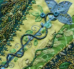 """Textile Explorations: """"Crazy Green"""""""
