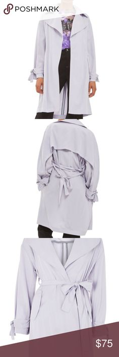 Topshop Truster Duster Coat Brand new with tags, beautiful lavender color Topshop Jackets & Coats Trench Coats