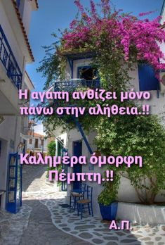 Greek Quotes, Good Morning, Greece, Simple, Plants, Life, Buen Dia, Greece Country, Bonjour