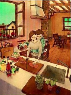 9 illustrations qui résument parfaitement ces petits moments affectueux quand on est en couple! Adorable!