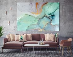 moderne-wall-art-abstract-schlafzimmerdruck-office-painting-grose-wandkunst-grose-abstrakte-leinwand-home-decor-print-farbmalerei-kunst/ - The world's most private search engine Canvas Home, Canvas Wall Art, Canvas Prints, Teal Wall Art, Art Prints, Marble Wall, Marble Print, Marble Painting, Ink Painting