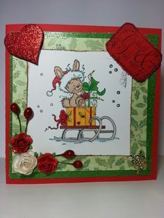 Christmas  wee  stamp Handmade Christmas, Pot Holders, Christmas Cards, Stamp, Christmas E Cards, Hot Pads, Potholders, Stamps, Planters