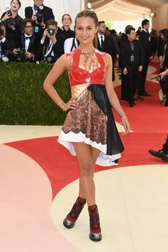 Alicia Vikander's a Babe in Louis Vuitton Booties at the Met Gala