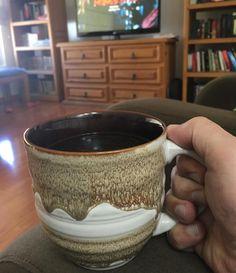 Después de una noche de insomnio una tacita (de 4 tazas según la cafetera) de #café aromatizada con nuez moscada.