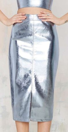 metallic leather skirt yes please  two of my favourite things xx