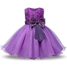 079a14dea Amazon.com  NNJXD Girl Sleeveless Lace 3D Flower Tutu Holiday Princess  Dresses  Clothing. Vestidos De Niña ElegantesVestidos Para ...