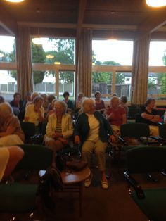 Getting ready to speak with Quinton Ladies Methodist Church group. A lovely bunch of women.