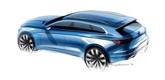 Volkswagen T Prime Concept GTE Design Sketch Render