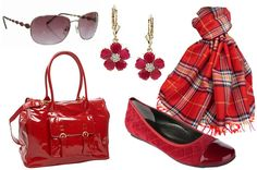 Red accessories for Valentine's Day