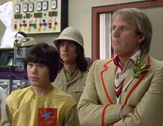 Adric (Matthew Waterhouse) and Fifth Doctor (Peter Davison)