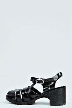 Frances Block Heel Jelly Sandal at boohoo.com