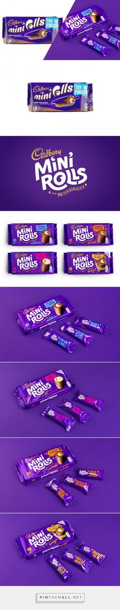 Before & After: Cadbury Mini Rolls — The Dieline - Branding & Packaging... - a grouped images picture - Pin Them All