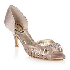 Light gold satin strap court shoes - Mid heel shoes - Shoes & boots - Women -