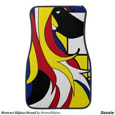 Abstract Afghan Hound Car Mats