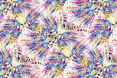 A splash of butterflies of this print for woman's beachwear and swimwear design. For bikinis, swimsuit… Even lycra to lay under the sun dreaming on flying with them surrounded by all the colors of the rainbow. Blue, yellow, pink, purple… Sparkling, shining, flying… More at facebook: https://www.facebook.com/SwimwearFabricsAnnaLlopDisseny?ref=hl