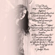 Katherine's Letter To Her Daughter Nadia Petrova Serie The Vampire Diaries, Vampire Diaries The Originals, Kathrine Pierce, Tvd Quotes, Vampires And Werewolves, Movie Couples, Nerd Geek, Delena, Best Shows Ever