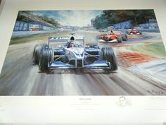 JUAN PABLO MONTOYA WILLIAMS MONZA 2001 F1 AUTOGRAPHED SIGNED ALAN FEARNLEY PRINT | eBay