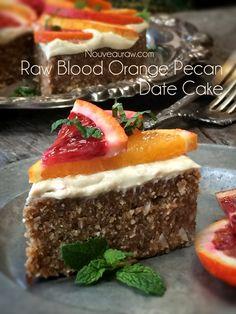 Blood Orange Pecan Date Cake: so refreshing and light (raw, vegan).