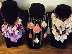 aaseagypsy jewels; mermaid armor necklaces :)