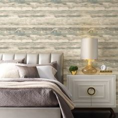 High Tide Peel and Stick Wallpaper from York Wallcoverings. $50.00 per single roll. You searched for simply candice - Lelands Wallpaper. #wallpaper #homedecor #designwithwallpaper Tranquil Bedroom, Candice Olson, Interior Decorating, Interior Design, Burke Decor, High Tide, Peel And Stick Wallpaper, Your Space, Bedroom Decor