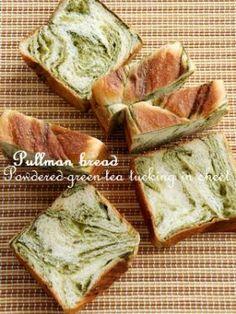 「抹茶折込みシートのプルマンブレッド」いたるんるん   お菓子・パンのレシピや作り方【corecle*コレクル】