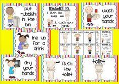 Bathroom hygiene posters. Back to school classroom decor