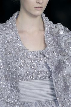 Elie Saab at Couture Spring 2009 (Details) Couture Collection, Winter Collection, Elie Saab Designer, Elie Saab Spring, Sparkles Glitter, Autumn Summer, Looking For Women, Fashion Details, Evening Gowns