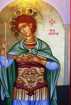 ca7e28514719 Η εικόνα του Αγίου Φανουρίου από το τέμπλο του Ιερού Ναου Αγίου Φανουρίου  κάτω Τούμπας Θεσσαλονίκης