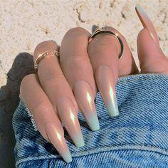 ╳ d e a t h g a s m ╳ Sexy Nails, Prom Nails, Long Nails, Cute Nails, Pretty Nails, Short Nails, Gradient Nails, Holographic Nails, Acrylic Nails