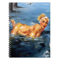 Vintage Art, Sexy Pin Up Girl Edward Runci 13 Spiral Note Books