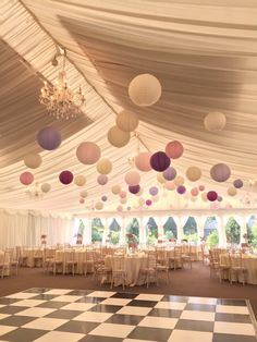 60 cream, lace, soft pink, purple, lavender paper lanterns