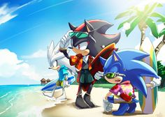 OMG!!! So cute!! Sonic, Shadow, and Silver