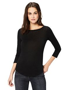 Women/'s Tee Size M 100/% Cotton Scoop Neck Long Sleeve Tagless Cotton Rose Print