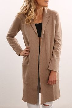 Marx Knit Coat Tan