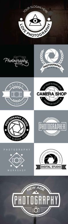 Unlimited commercial use! Click here to get 10 Photography logos for $5 only:  https://www.etsy.com/in-en/listing/485461639/10-photography-badge-logosvintage