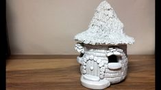 DIY THE paper clay brick fairy house / hat lantern night light house craft idea – CRAFTS Paper Clay, Clay Art, Diy Paper, Clay Fairy House, Fairy Houses, Gnome House, Doll Houses, Das Clay Ideas, Clay Fairies