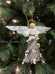 Patina Paradise: Handmade Angel Christmas Ornament