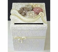 Wedding Money Box Use Material and lace instead of paper Trendy Wedding, Diy Wedding, Wedding Gifts, Dream Wedding, Wedding Ideas, Money Box Wedding, Card Box Wedding, Wedding Centerpieces, Wedding Decorations