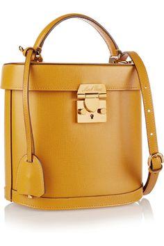 Mark Cross|Benchley textured-leather shoulder bag|NET-A-PORTER.COM