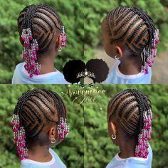 Kids Cornrow Hairstyles, Toddler Braided Hairstyles, Cute Hairstyles Updos, Lil Girl Hairstyles, Black Kids Hairstyles, Children Hairstyles, Elegant Hairstyles, Little Girl Braid Styles, Kid Braid Styles