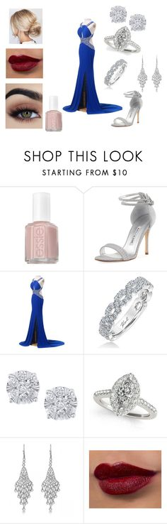 """""""Kat's Gala Case Outfit (FOR TUMBLR RP)"""" by katrenakearns ❤ liked on Polyvore featuring Essie, Manolo Blahnik, Karl Lagerfeld, Effy Jewelry and Allurez"""