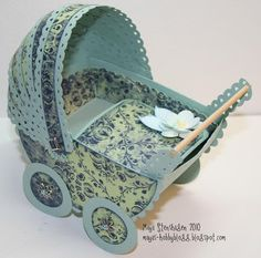 Mayas Hobbyblogg: DIY TUTORIALS ON LRG. AND SM. BABY CARRIAGES!  Gteat for baby showers!!!! And welcome baby cards!!!