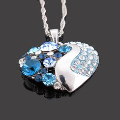 Diamante rhinestone blue make this just lovely.   If anyone finds this in pink let me know ill  follow you.  My daughter wants a pink one.