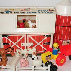 "I can still hear exactly how the ""moo"" sounds when id open the barn door.  Fisher Price Farmhouse"